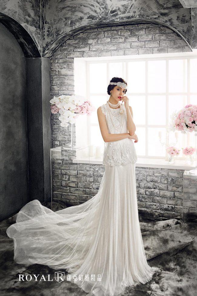 婚紗禮服款式-a line婚紗-a line白紗-手工婚紗-古典婚紗