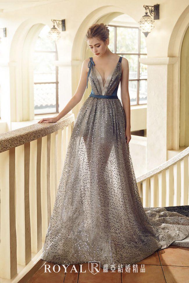婚紗禮服款式-a line-亮片禮服-手工婚紗-時裝婚紗-婚紗款式2020