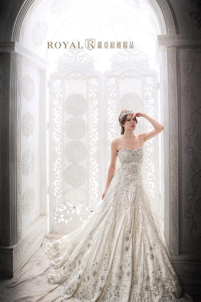 婚紗禮服款式-a line-白紗-華麗婚紗-寶石婚紗