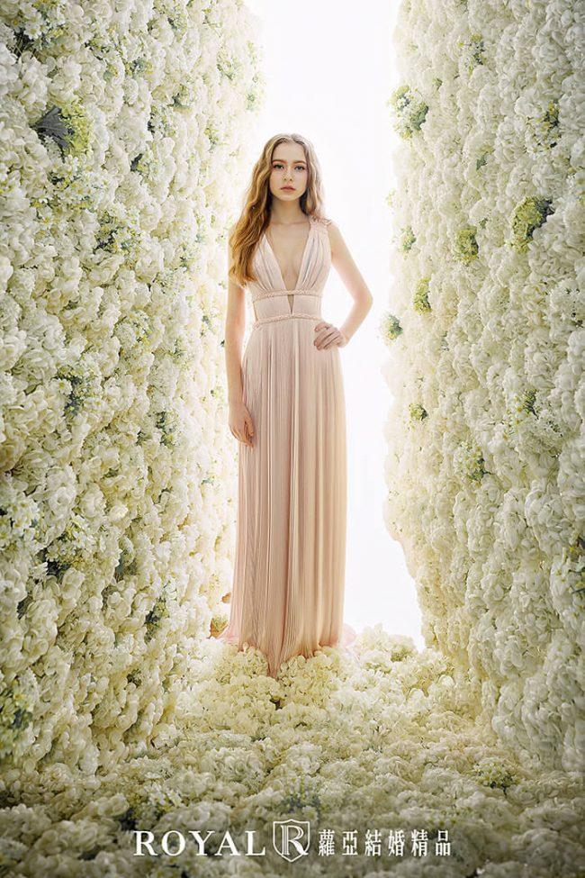 婚紗禮服款式-a line-胭脂粉禮服-婚紗款式2020-手工婚紗