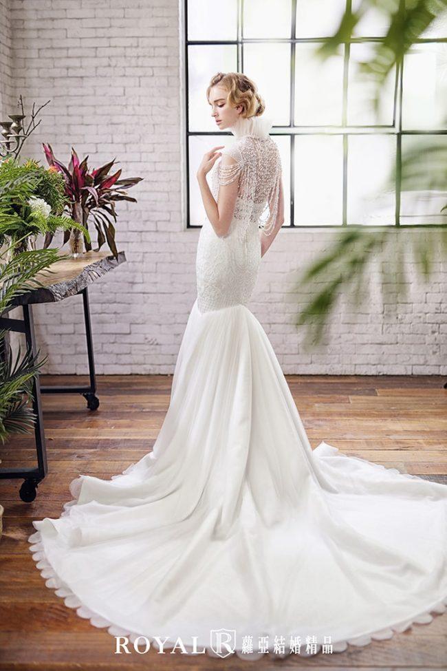 婚紗禮服款式2020-兩件式婚紗禮服-古典婚紗-魚尾白紗-手工婚紗