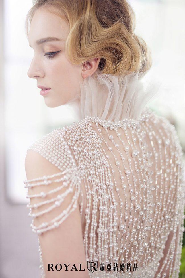 婚紗禮服款式2020-兩件式婚紗禮服-魚尾白紗-古典婚紗-手工婚紗