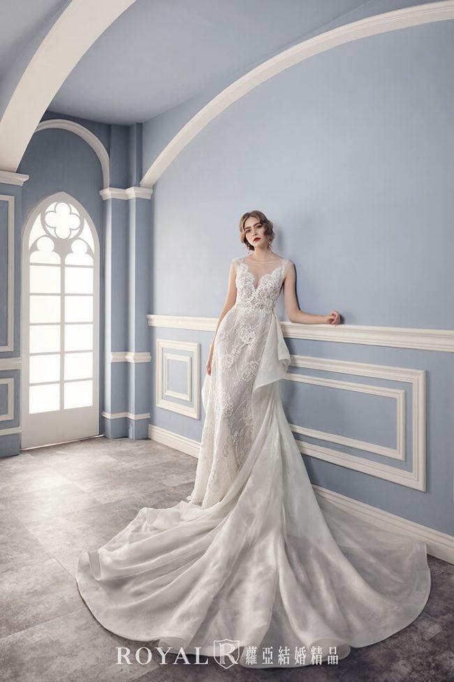 婚紗禮服款式2020-兩件式輕婚紗婚紗禮服-手工婚紗-輕婚紗
