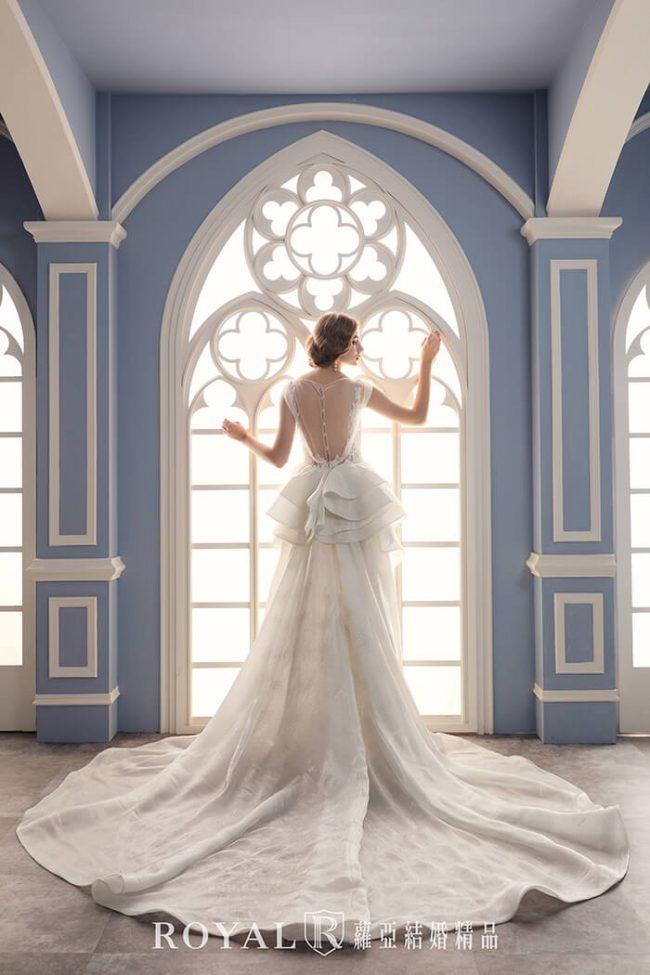 婚紗禮服款式2020-兩件式輕婚紗婚紗禮服-輕婚紗-手工婚紗