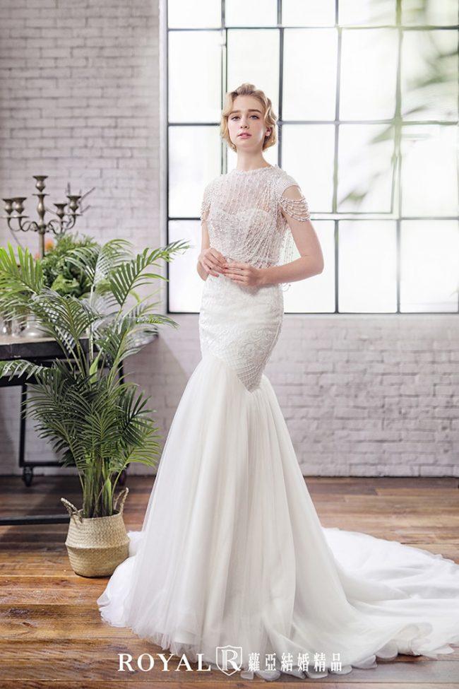 婚紗禮服款式2020-魚尾白紗-兩件式婚紗禮服-古典婚紗-手工婚紗