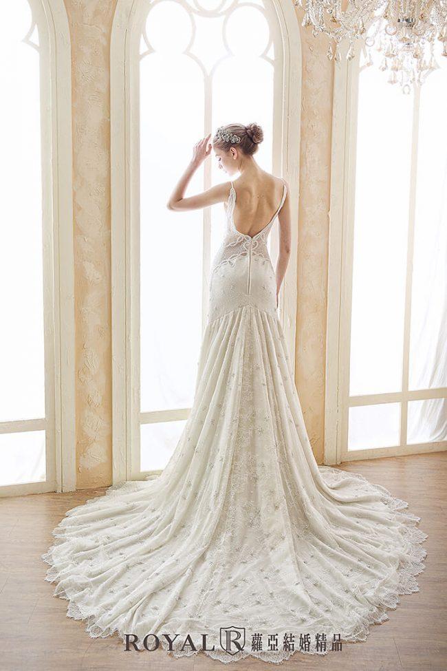 手工婚紗-兩件式婚紗禮服-婚紗禮服款式-魚尾婚紗