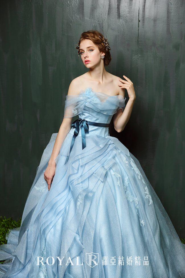 手工婚紗-公主風婚紗-婚紗禮服款式-卡肩婚紗-卡肩禮服