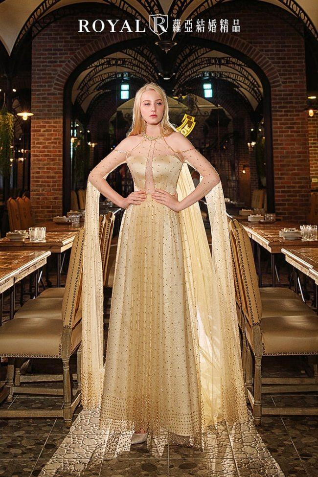 手工婚紗-特殊袖型-繞頸-時裝款式-婚紗禮服2020-婚紗禮服款式
