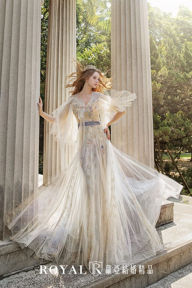 手工婚紗-特殊袖型-魚尾婚紗-婚紗禮服款式-婚紗禮服2020