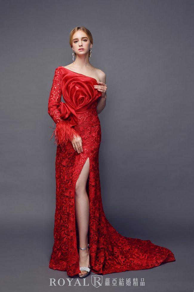 手工婚紗-特殊袖型-魚尾婚紗-婚紗禮服2020-婚紗禮服款式-長袖婚紗