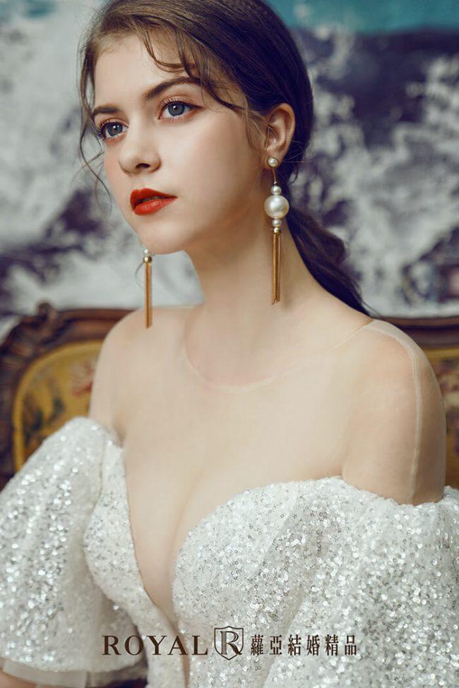 手工婚紗-特殊袖型-魚尾婚紗-時裝款式-婚紗禮服2020-婚紗禮服款式