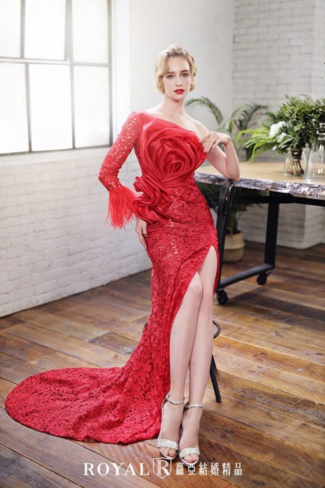 手工婚紗-特殊袖型-魚尾婚紗-長袖婚紗-婚紗禮服2020-婚紗禮服款式