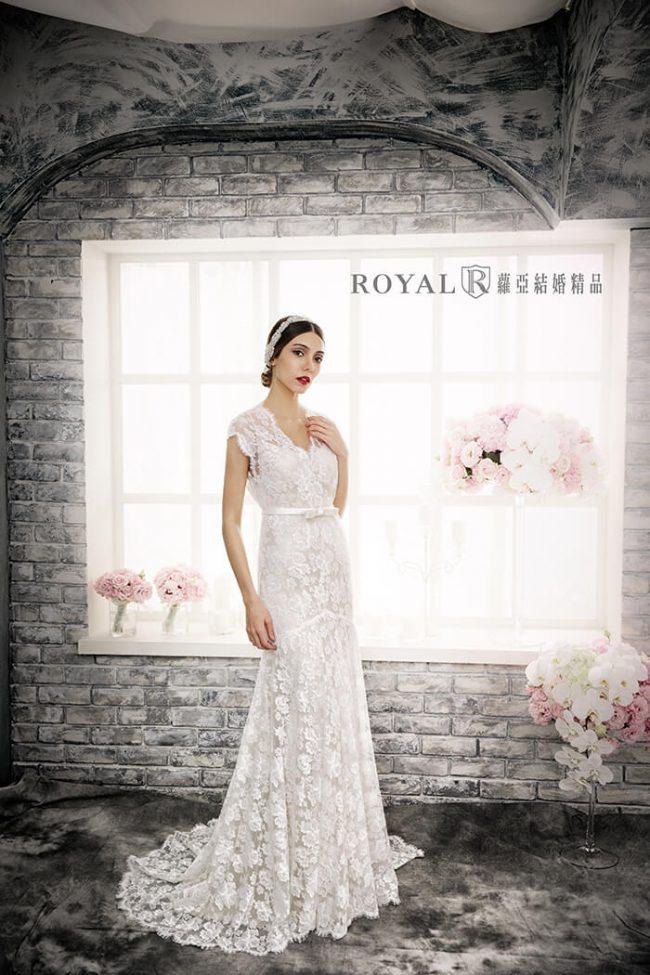 手工婚紗-蕾絲白紗-魚尾白紗-古典婚紗-婚紗禮服款式