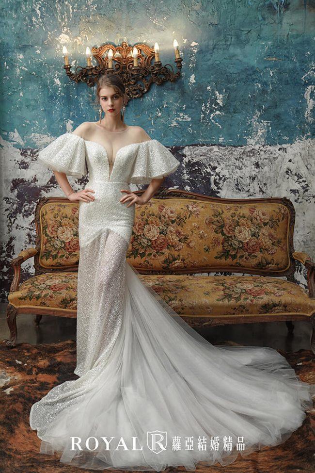 手工婚紗-魚尾婚紗-時裝款式-特殊袖型-婚紗禮服2020-婚紗禮服款式