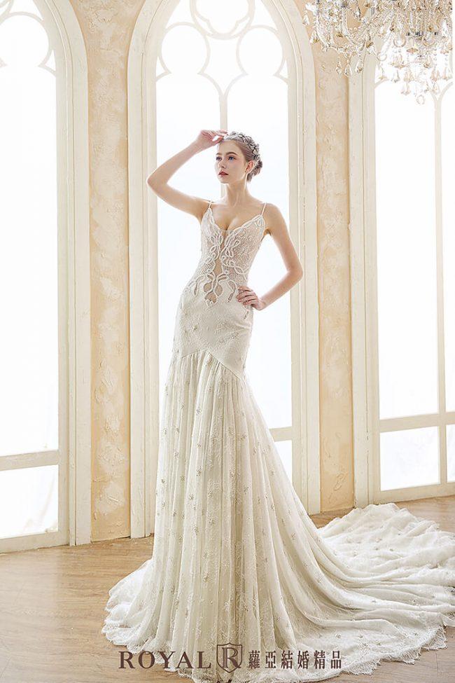 手工婚紗-魚尾白紗-兩件式婚紗禮服-婚紗禮服款式