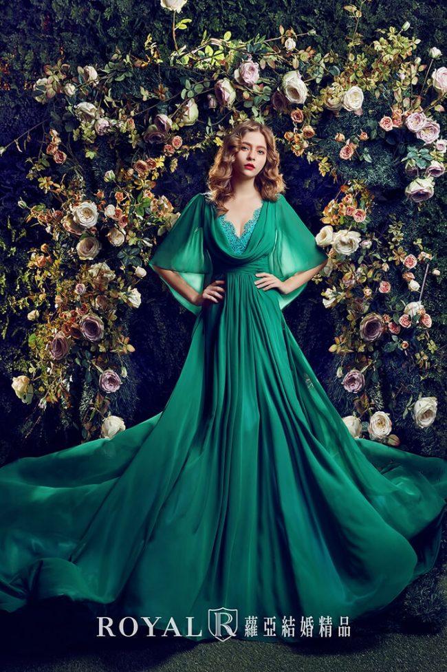 水袖婚紗禮服-婚紗禮服款式-特殊袖型-婚紗款式2020-手工婚紗