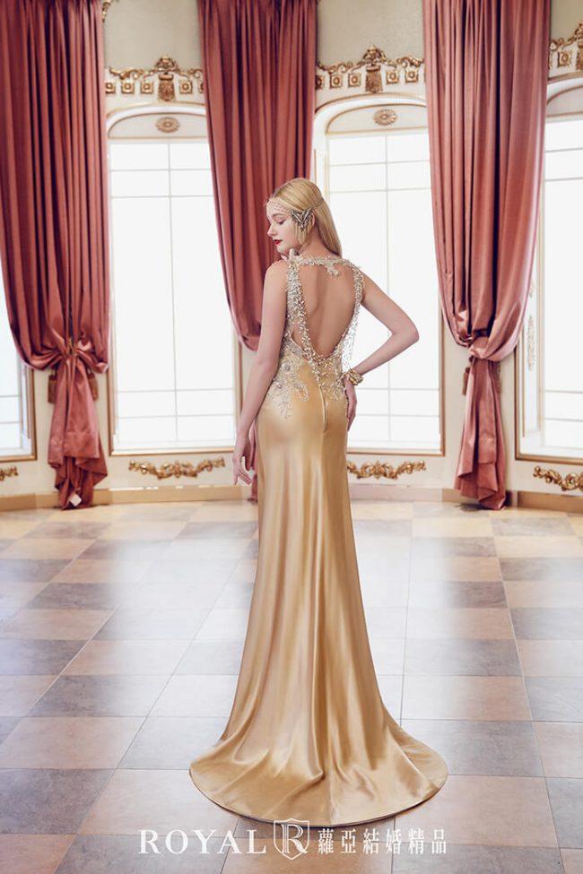緞面婚紗-婚紗款式2020-魚尾婚紗-魚尾禮服-手工婚紗