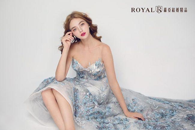 輕婚紗-婚紗禮服款式-a line婚紗-前短後長婚紗-婚紗款式2019