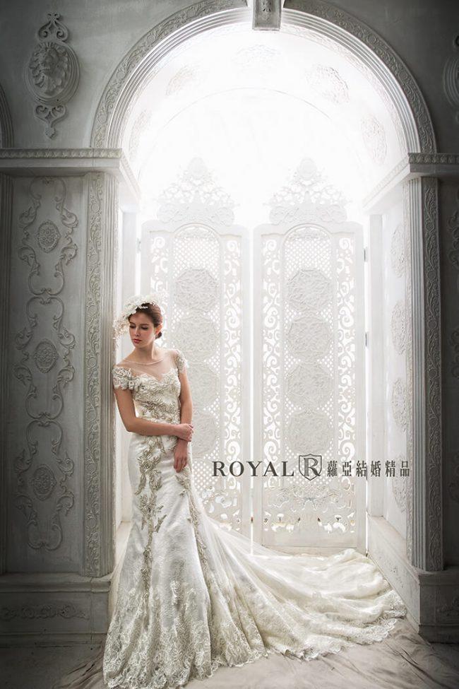 魚尾婚紗-婚紗禮服款式-古典婚紗-魚尾白紗