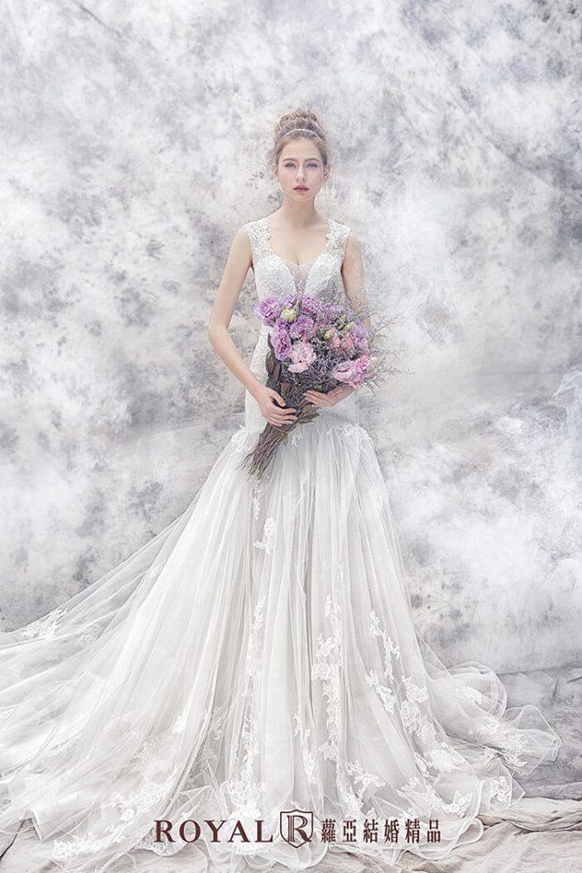 魚尾婚紗-手工婚紗-魚尾白紗-婚紗禮服款式