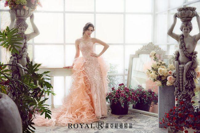 魚尾禮服-兩件式婚紗禮服-婚紗禮服款式-桃心領婚紗