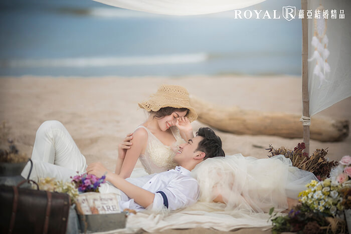 拍婚紗月份-拍婚紗季節-夏天拍婚紗-海邊-三芝-婚紗照-台北-拍婚紗-蘿亞婚紗