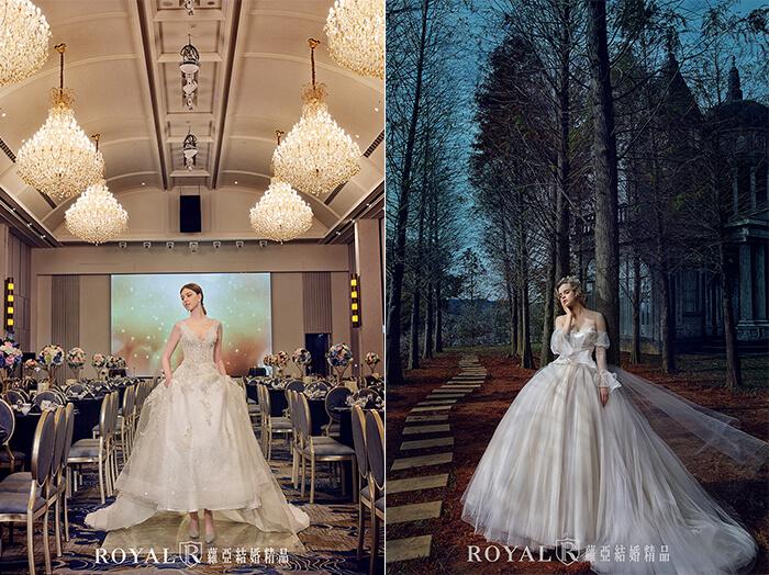 2020婚紗推薦-2020婚紗趨勢-流行婚紗禮服款式-輕盈感的婚紗-蘿亞白紗-宮廷感蓬裙白紗-淡粉透膚類白紗