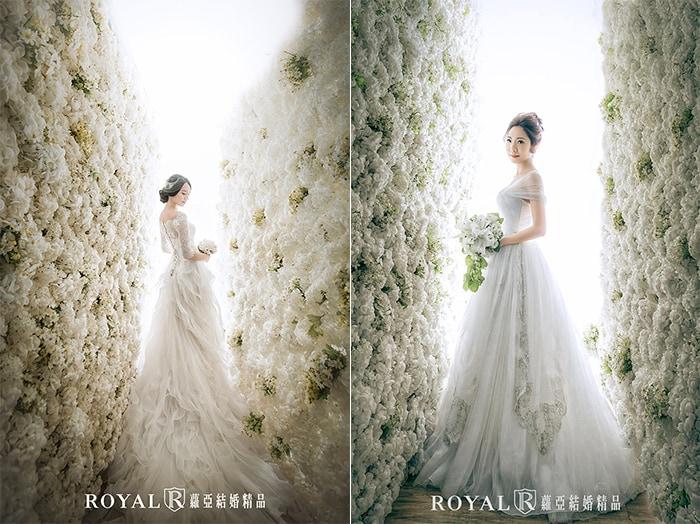 韓式婚紗-韓國婚紗-韓風婚紗-韓國婚紗攝影-在韓風花牆拍攝個人寫真的蘿亞新娘,紀念嫁給愛情的美麗身影