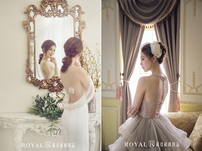 韓式婚紗-韓國婚紗-韓風婚紗-韓國婚紗攝影-無論是白紗或晚禮服,蘿亞造型師都能為新娘打造出充滿個人特色的韓風婚紗造型