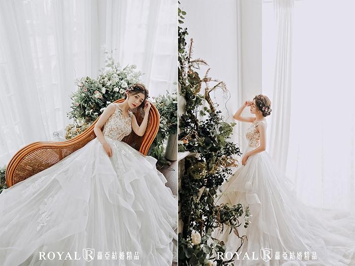 韓式婚紗-韓國婚紗-韓風婚紗-韓國婚紗攝影-穿上立體波浪白紗的蘿亞新娘,完成韓系新娘美夢