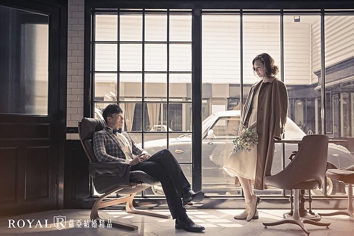 韓式婚紗-韓國婚紗-韓風婚紗-韓國婚紗攝影-經暖色調處理的便服婚紗照,兩人彷彿化身韓劇中的男女主角
