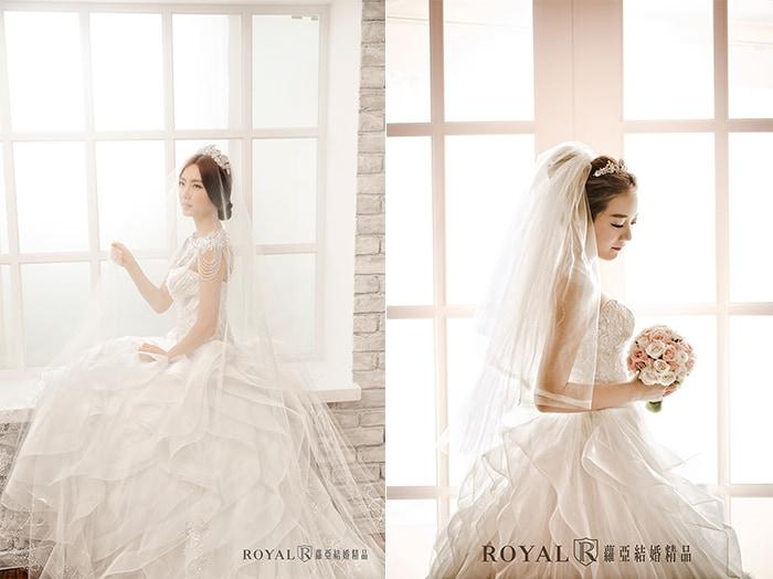 韓式婚紗-韓國婚紗-韓風婚紗-韓國婚紗攝影-蘿亞攝影師擅長運用柔和光線,勾勒出新娘的待嫁純潔感