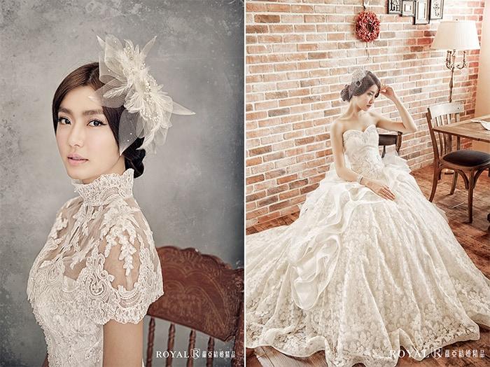 韓式婚紗-韓國婚紗-韓風婚紗-韓國婚紗攝影-蘿亞新娘可選擇上百款不同風格的蕾絲白紗、配件飾品,營造出不同風格的韓式新娘氣質