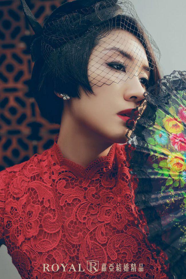 中式婚紗-紅色旗袍婚紗-訂婚禮服-婚紗款式禮服