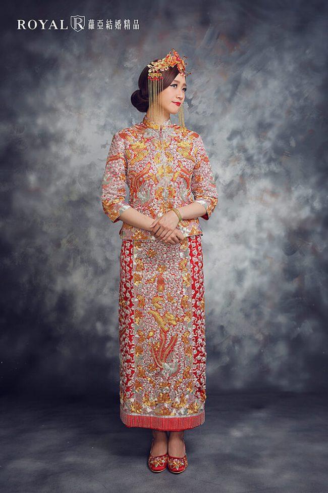 中式婚紗-訂婚禮服-龍鳳褂-褂后-龍鳳褂出租