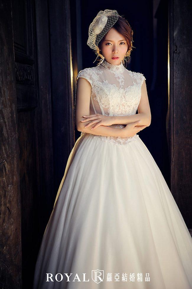 中式婚紗-高領婚紗-古典婚紗-中式白紗-婚紗款式禮服