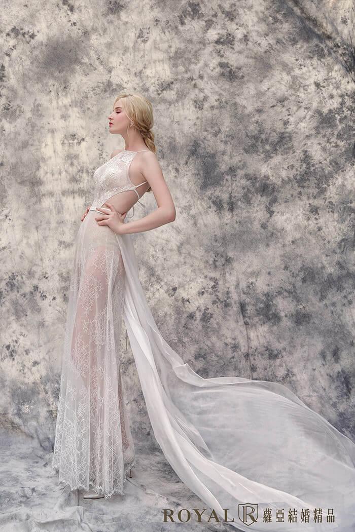 削肩婚紗-削肩白紗-褲裝婚紗-時裝婚紗-婚紗禮服款式