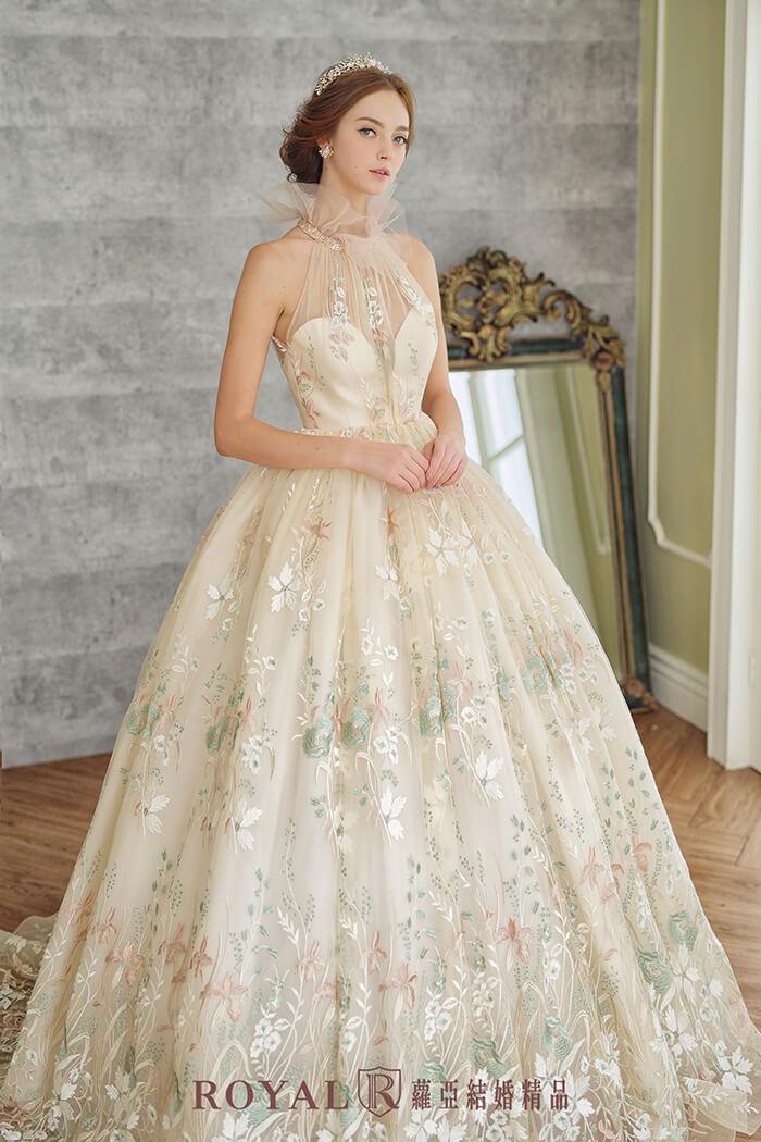 削肩婚紗-削肩禮服-婚紗款式2020-高領婚紗-婚紗禮服款式