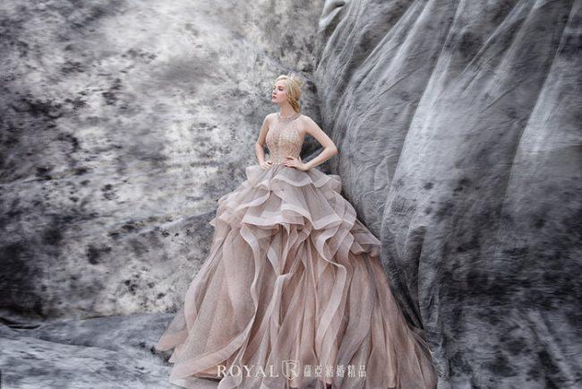 削肩婚紗-削肩禮服-繞頸婚紗-婚紗禮服款式-婚紗款式2019