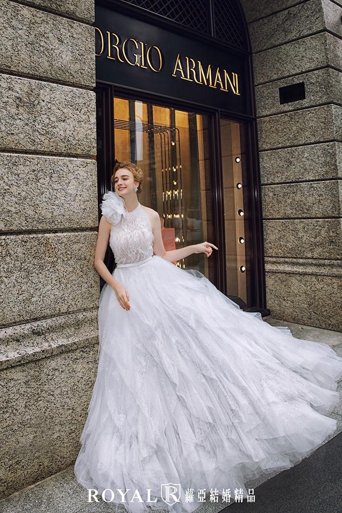 削肩婚紗-婚紗小腹-繞頸婚紗-婚紗禮服款式-婚紗款式2020