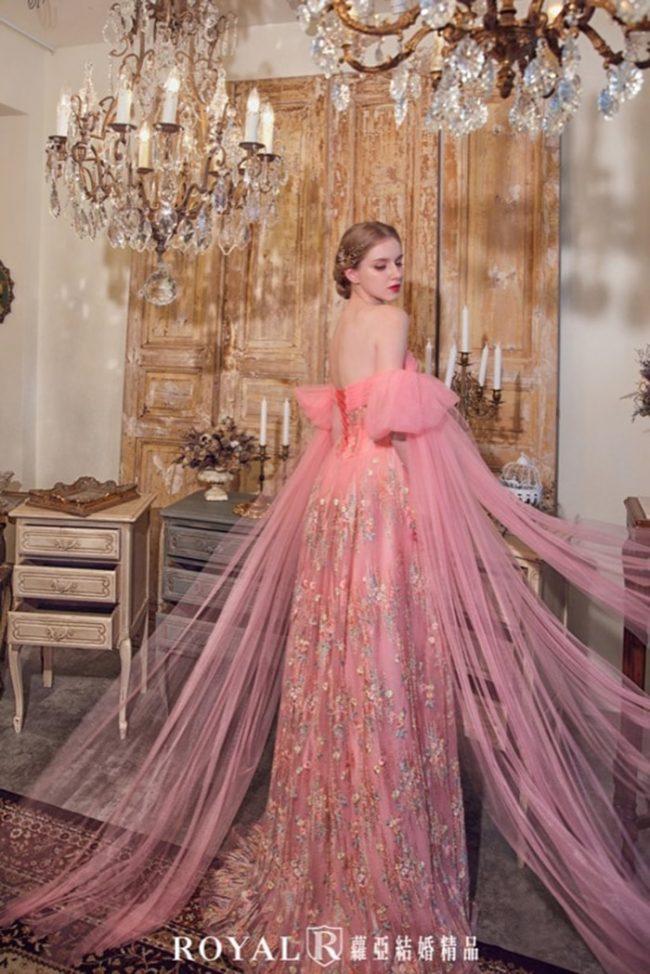 婚紗款式禮服-手工婚紗-卡肩婚紗-婚紗款式2020