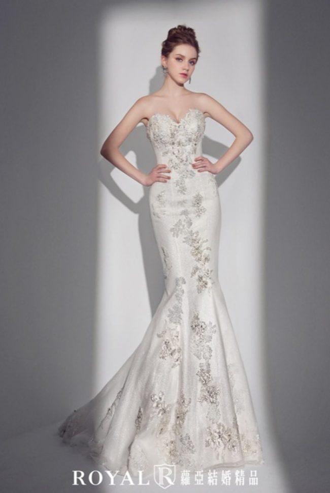 婚紗款式禮服-手工婚紗-魚尾白紗-婚紗款式禮服2020