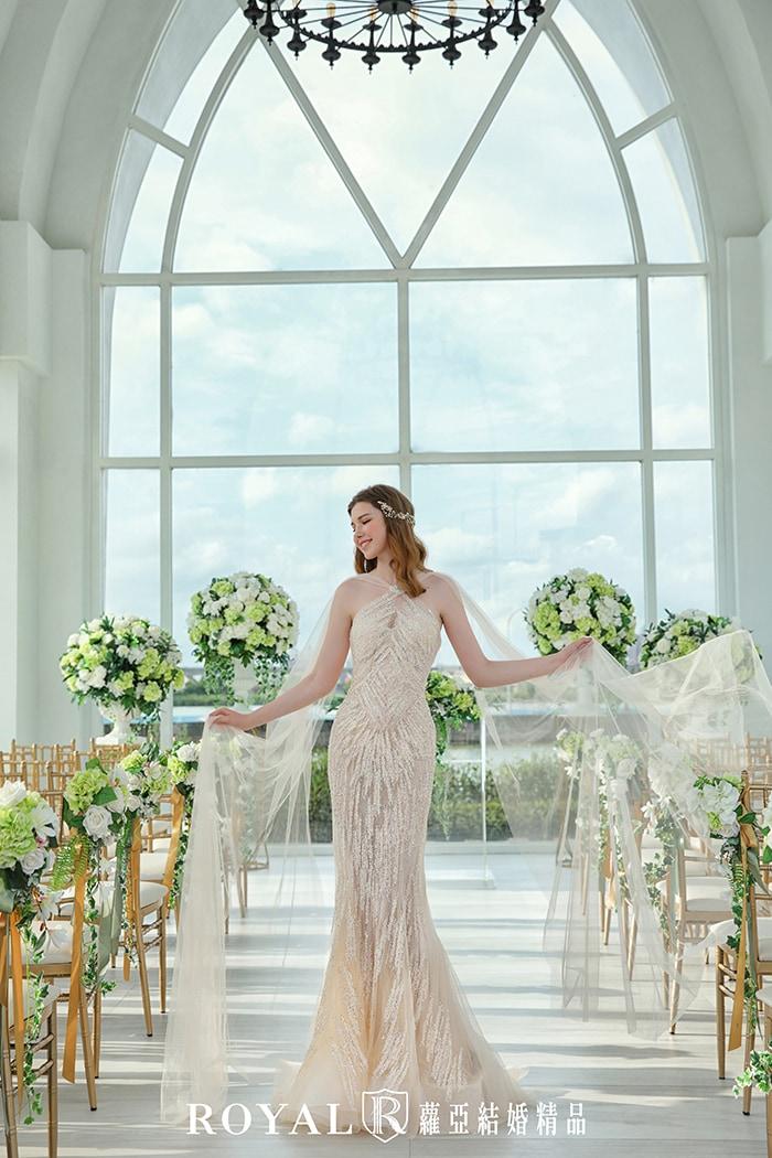 婚紗款式2020-削肩婚紗-削肩禮服-魚尾婚紗-婚紗禮服款式-手工婚紗