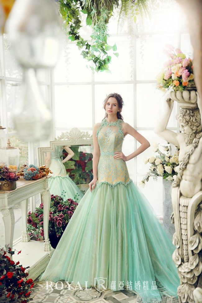 婚紗款式2020-魚尾婚紗-削肩婚紗-削肩禮服-手工婚紗-婚紗禮服款式