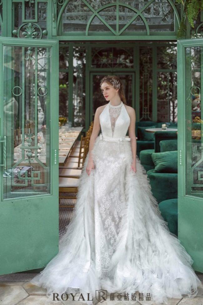 婚紗禮服款式-兩件式婚紗禮服-手工婚紗-婚紗款式2020