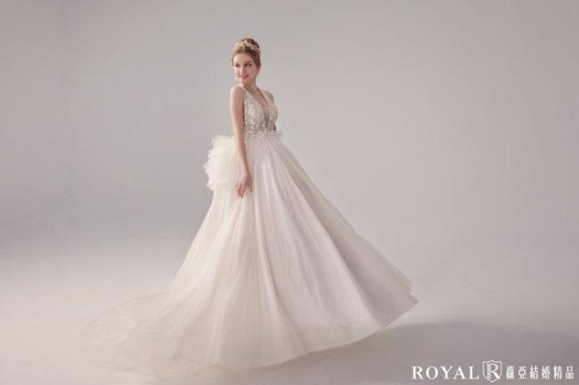 輕婚紗-手工婚紗-婚紗款式禮服-蓬裙白紗