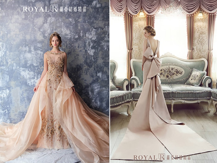 個性婚紗-美背婚紗-設計感-2020婚紗流行趨勢-台北蘿亞婚紗
