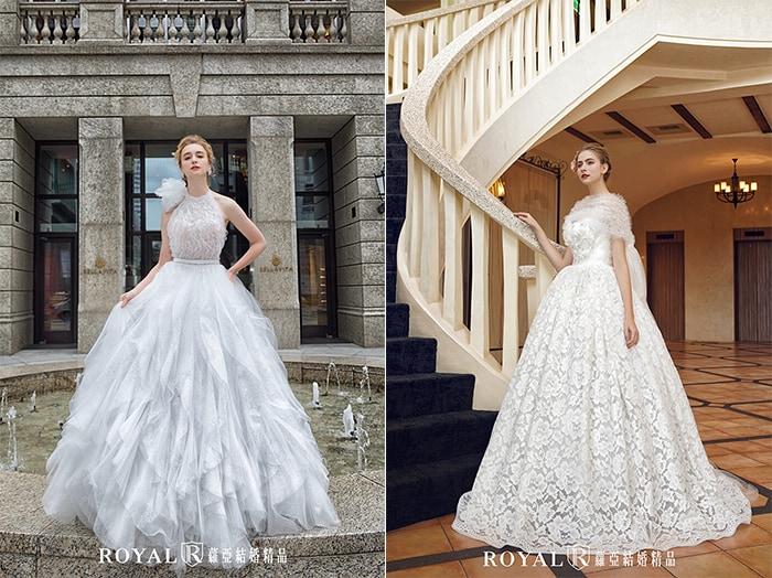 歐式宮廷禮服-公主禮服-蕾絲長袖-蓬裙-2020婚紗流行趨勢-台北蘿亞婚紗