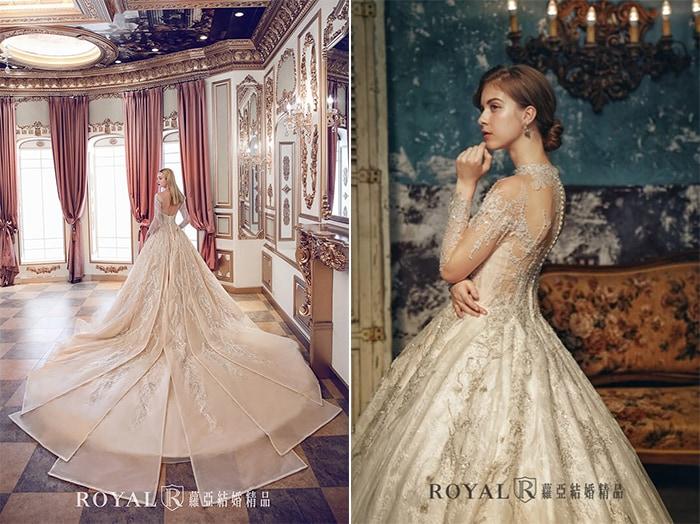 歐式宮廷禮服-公主禮服-2020婚紗流行趨勢-台北蘿亞婚紗