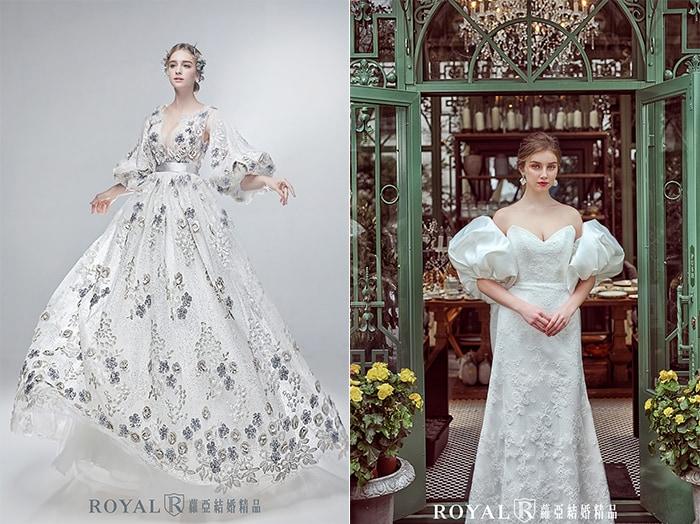 法式婚紗-蕾絲-維多利亞風-2020婚紗流行趨勢-台北蘿亞婚紗